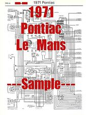 1971 Pontiac Le Mans Full Car Wiring Diagram *High Quality ...