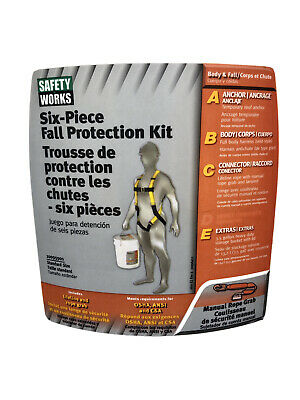 Safety Works 6-piece Fall Protection Kit- 10095901