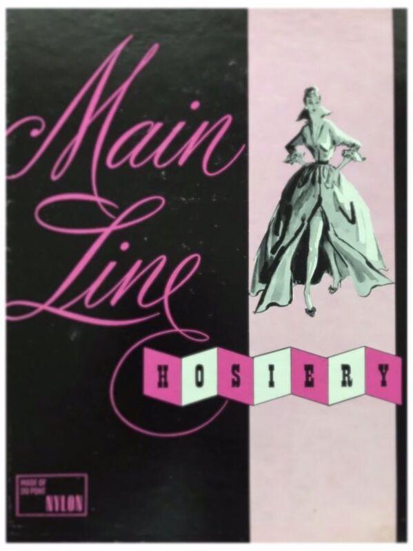 3 Pr MAIN LINE JET BLACK SEAMLESS MESH -NIB- Vintage Nylon Stockings Size 10