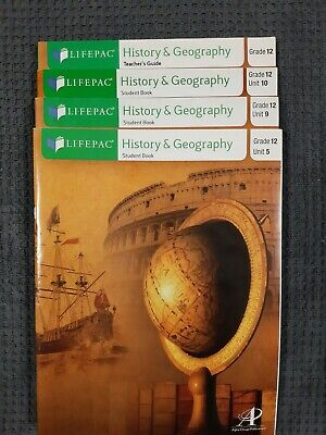 Lifepac History Grade 12 units 5,9,10 and Manual ONLY Grade Lifepac History Unit