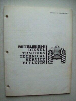 Original Mitsubishi Diesel Tractors Technical Service Bulletin 5240085tsb3