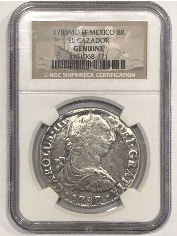Spanish Colonial 8R EL Cazador Genuine Silver Coin NGC
