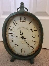 Rustic French Cafe Marguerites Aqua Turquoise Clock