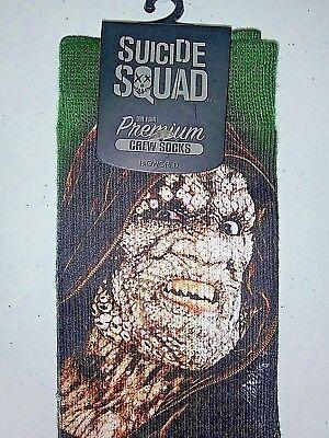 Crocs Mens Socks (Killer Croc Suicide Squad Sublimated Crew Socks Men Size 10-13 DC Comic)