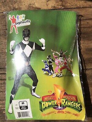 Power Rangers Black Ranger Morphsuit; Full Body Fancy Dress Costume Size M