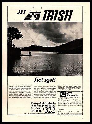 1967 Jet Irish Aer Lingus Airlines 2 week Ireland Vacation $322 Vintage Print Ad