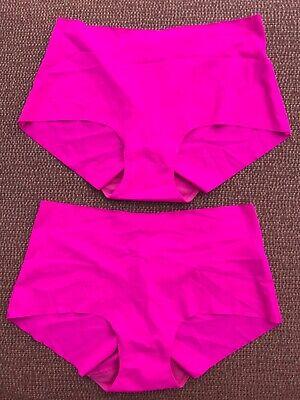 2 Pairs Bright Pink, Ex Store Shorts/Knickers, S, UK 8-10 BNWOT, Nylon/Lycra