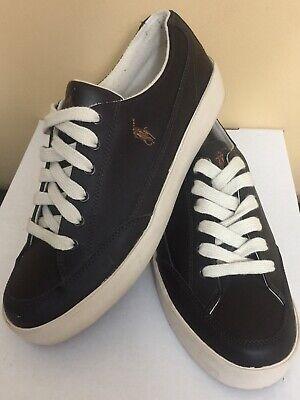 Polo Sport Ralph Lauren Brisbane Shoes (00001629 H10) Dark Brown Size 10.5D MINT