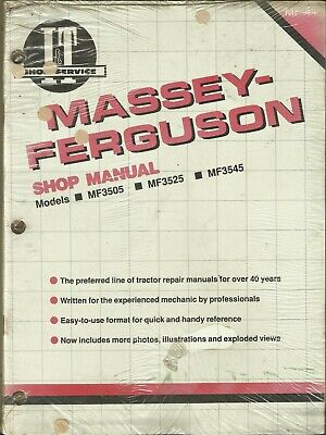 It Massey Ferguson Mf3505 Mf3525 Mf3545 Mf-44 Tractor Shop Manual Sealed