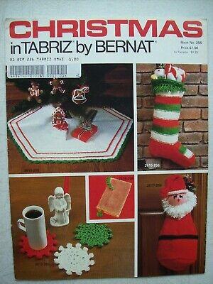 Crochet & Knit Pattern ~ Christmas in Tabriz Stocking Tree Skirt ~ Book 256 ()