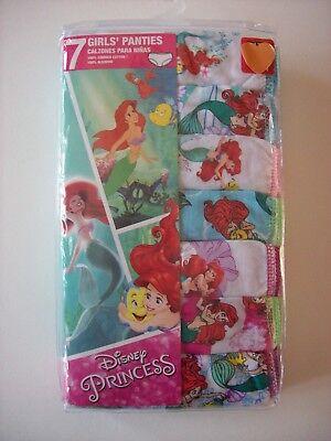 Ariel Unterwäsche (Ariel Little Mermaid Underwear Underpants Girls 7 Pr Panty Sz 4 6 8 Princess NIP)