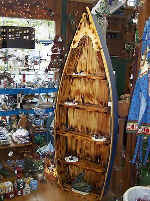 **NEW** Custom 6 Ft Handmade Wood Canoe Nautical Boat Shelf - Choose finishing!