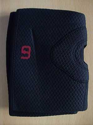 Support Premium Knee Support Sleeves Brace with Open Patella Two Sizes Black New