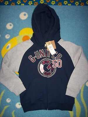 G-Unit Hoodie Boys Zip Front 4 Sweatshirt Track Navy Gray G-Unit Co 50 Ribbed, used for sale  Dublin