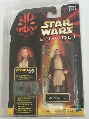 Star Wars Episode 1 Phantom Menace Qui-Gon Jinn Figure Commtalk Commtech MOC