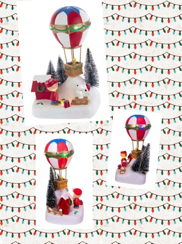 PEANUTS KURT Adler Animated Christmas Musical LED LightUp Balloon Table CHARLIE