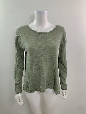 Tommy Hilfiger Women's Size Medium Long Sleeve scoop Neck Thin Pullover Sweater