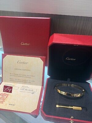 Cartier Love Bracelet 18K Yellow Gold Size 19 Complete With Box And Certificate