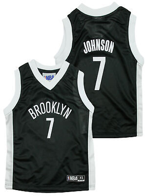 NBA Basketball Kids / Youth Brooklyn Nets Joe Johnson #7 Dazzle Jersey - Black Childs Basketball Jersey