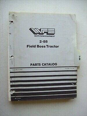 Original White 2-88 Field Boss Tractor Parts Catalog Manual