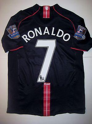 Manchester United Cristiano Ronaldo Nike Black Jersey 2007 Real Madrid Portugal