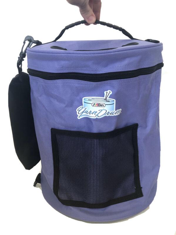 Art Bin Yarn Drum LARGE Size Purple Tote Knit Crochet Storage + Accessory Bag