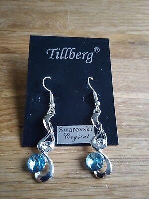 Tillberg Ohrringe Swarowski Crystal Farbe: hellblau gebraucht kaufen  Brandis