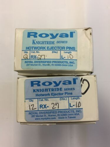 Royal RX-27-L10 RX KNIGHTRIDE SERIES H-13 Hotwork Ejector Pins  (BOX OF 12)
