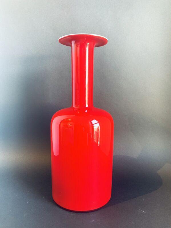 """HOLMEGAARD Gulvase 14"""" Red Cased Glass"""