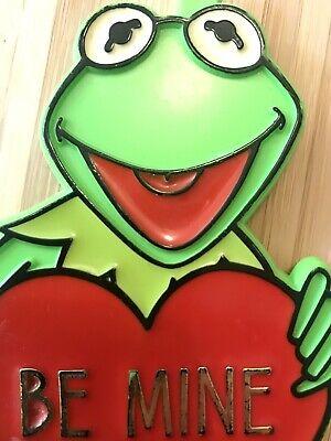 Vintage Kermit The Frog Plastic Valentine Cookie Cutter Heart BE MINE