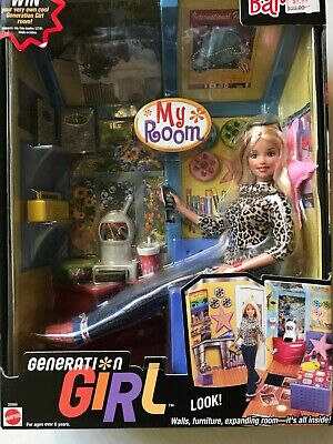 Brand New: Barbie Gerneration Girl My Room Barbie with Furniture and Accessories