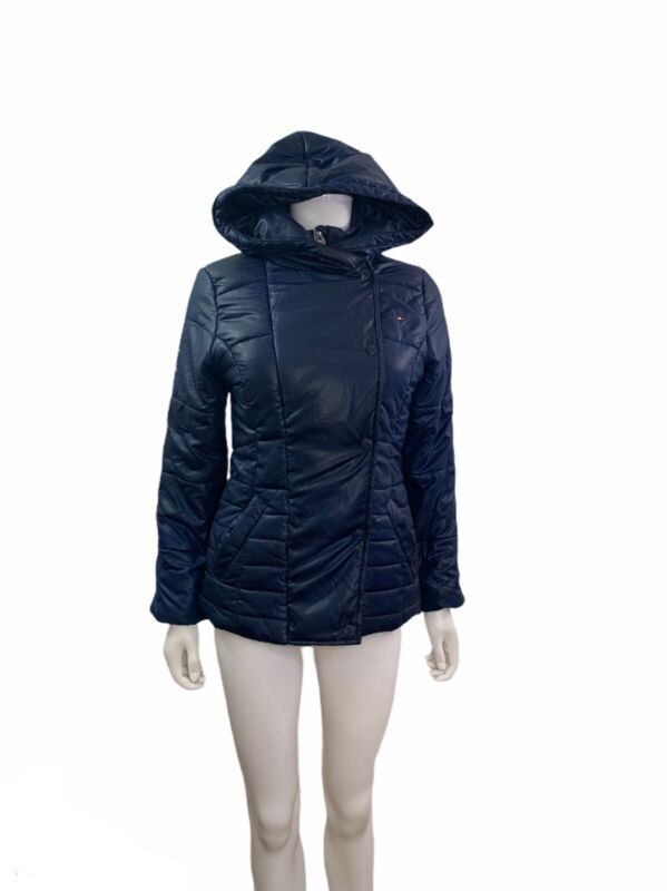 Tommy Hilfiger Youth Girls Long Sleeve Hooded Blue Puffer Coat
