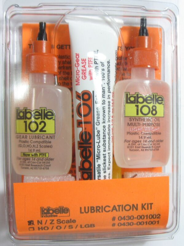 Labelle 1002 Lubrication Kit for N/Z Scale Trains
