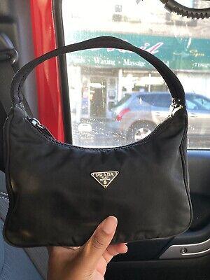Authentic Vintage Prada Nylon Mini Hobo Bag Black
