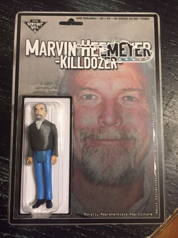 "Marvin Heemeyer - The killdozer, Custom 3.75"" Handmade Figure True Crime Cult"