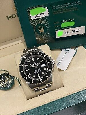 Rolex Submariner Date 126610LN 41mm Black Dial With Papers 2021 UNWORN
