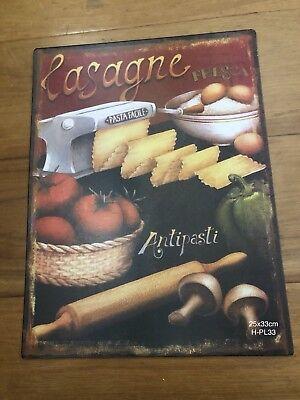 Tin Signs Retro Italian Food Lasagne Souvenir Wedding Bar Kitchen Garage Decor (Wedding Bar Signs)