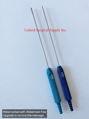 Liposuction Cannulas Optimum Set Of 2 3.5-4mm Plastic Surgery Instruments