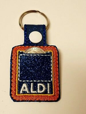 Quarter keeper for ALDI Key Fob Chain Ring Tag for Luggage ()
