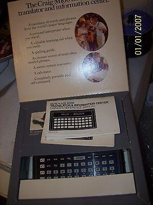 CRAIG MODEL M100 ELECTRONIC TRANSLATOR AND INFORMATION CENTER