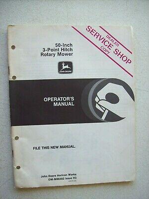 Original John Deere 50 3 Point Hitch Rotary Mower Operators Manual