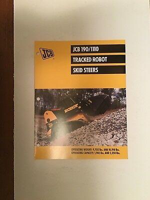 Jcb Track Skid Steer Models 1901110 Loader Sales Literature Specifications.
