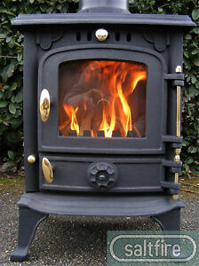 Petit Furzebrook Multifuel Small Woodburning Stove 4kW Cast Iron Log Burner