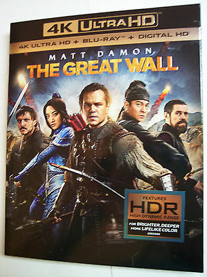 The Great Wall W Slipcover  4K Ultra Hd  Blu Ray  Digital  Matt Damon