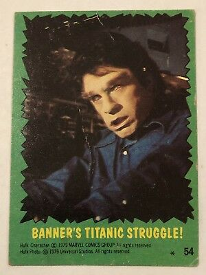 1979 Topps The Incredible Hulk BANNER'S TITANIC STRUGGLE! 54