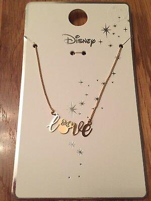 Primark Disney Minnie Mouse - Love - Necklace BNWT Gold Costume - Christmas Minnie Mouse Costume