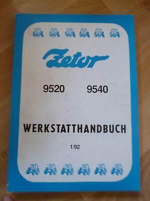 Używany, Zetor Traktoren 9520 + 9540 Werkstatthandbuch na sprzedaż  Wysyłka do Poland