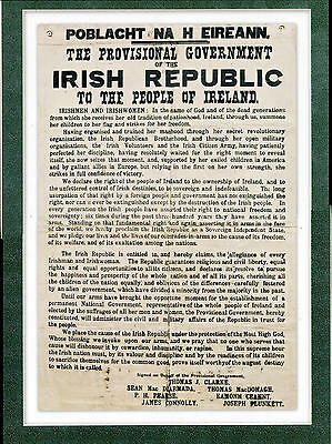 1916 The Proclamation of the Irish Republic A4 1916 Easter Rising Poster