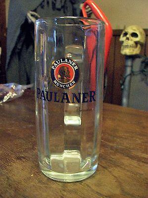 "German Paulaner Munchen Mug Glass Beer Stein 0.5 L 7.5"" Tall Barware NICE"