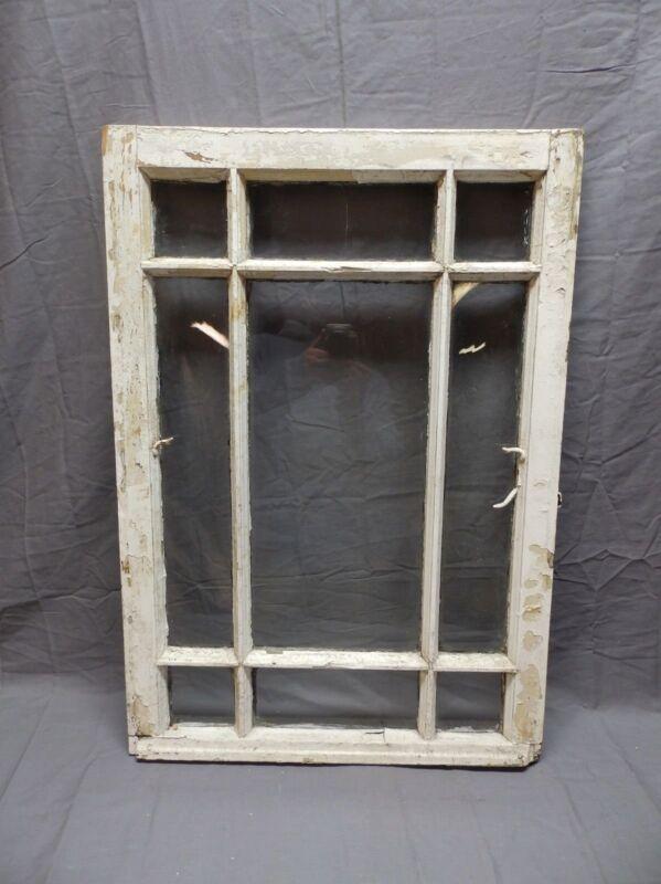 Antique 9 Lite Window Sash Shabby Cottage Chic 31x22 Vtg Architectural 633-17P